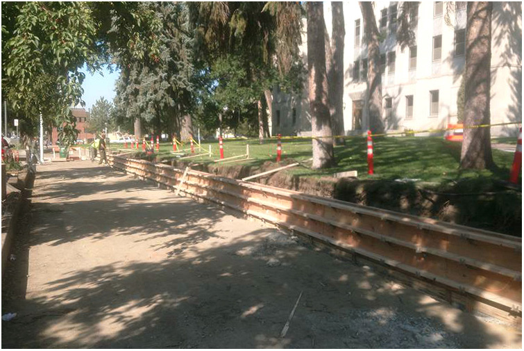 Burleigh County Courthouse Sidewalk and Steps